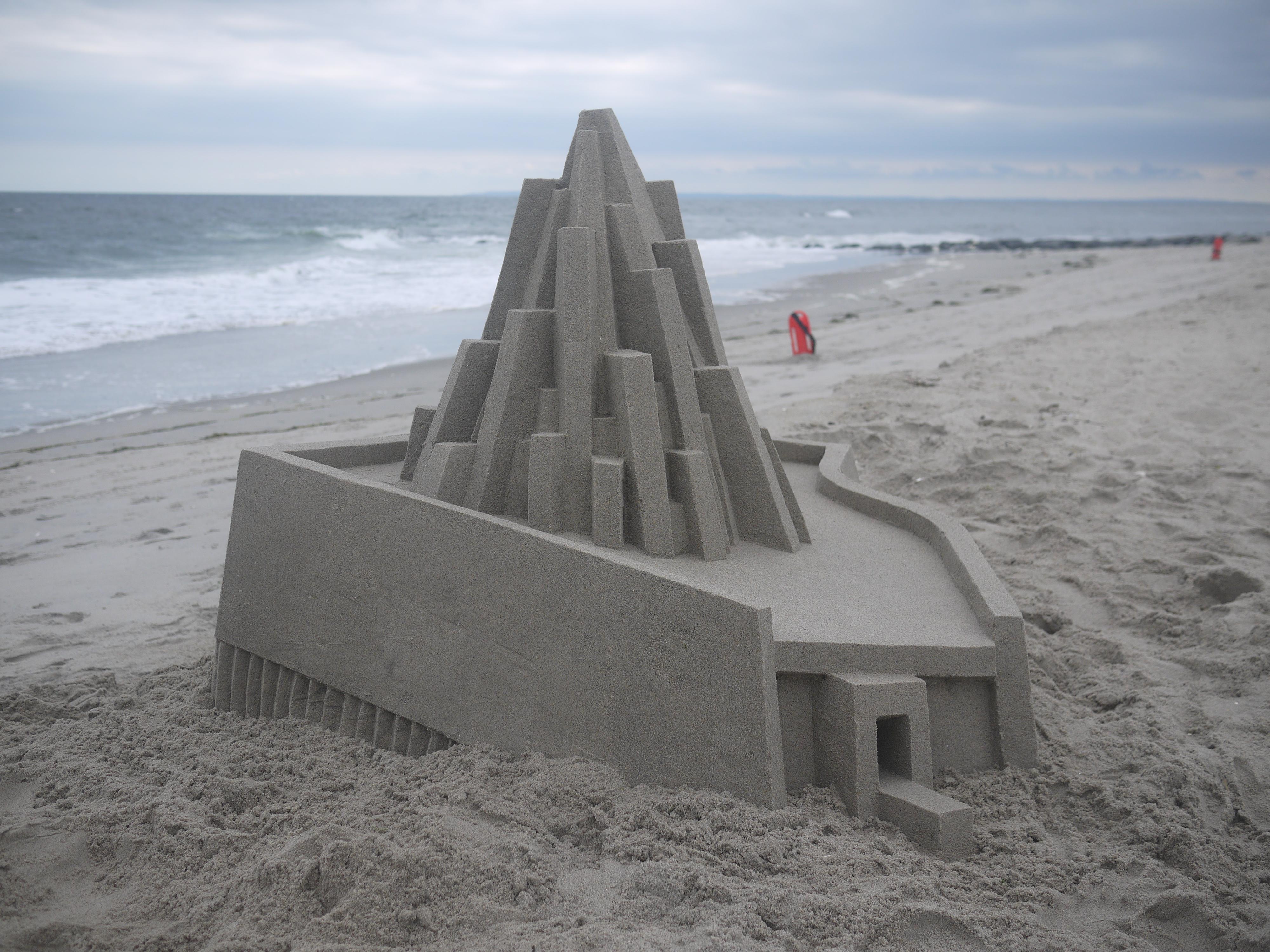 Chateau de sable Calvin Seibert Architecture Plage Été Vacances