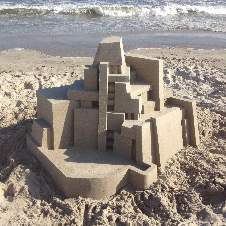 Chateau de sable Calvin Seibert Architecture Plage Été VacancesChateau de sable Calvin Seibert Architecture Plage Été Vacances