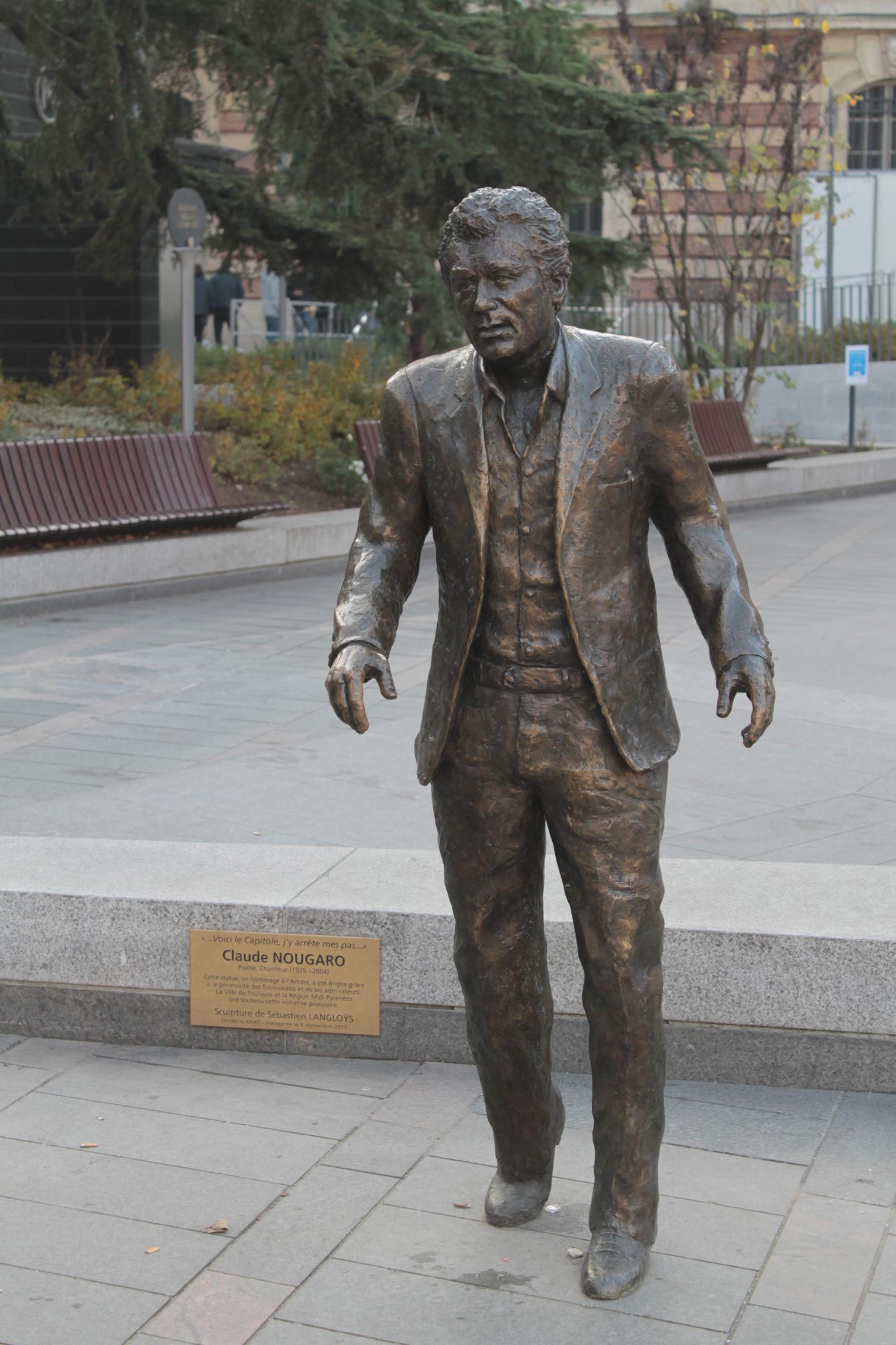 Claude Nougaro Toulouse France Statue Portfolio
