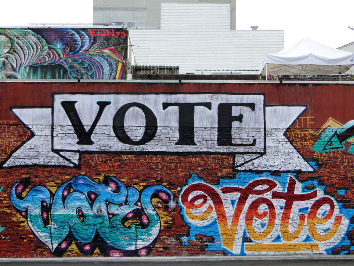 Vote Tribute Wall in San Francisco