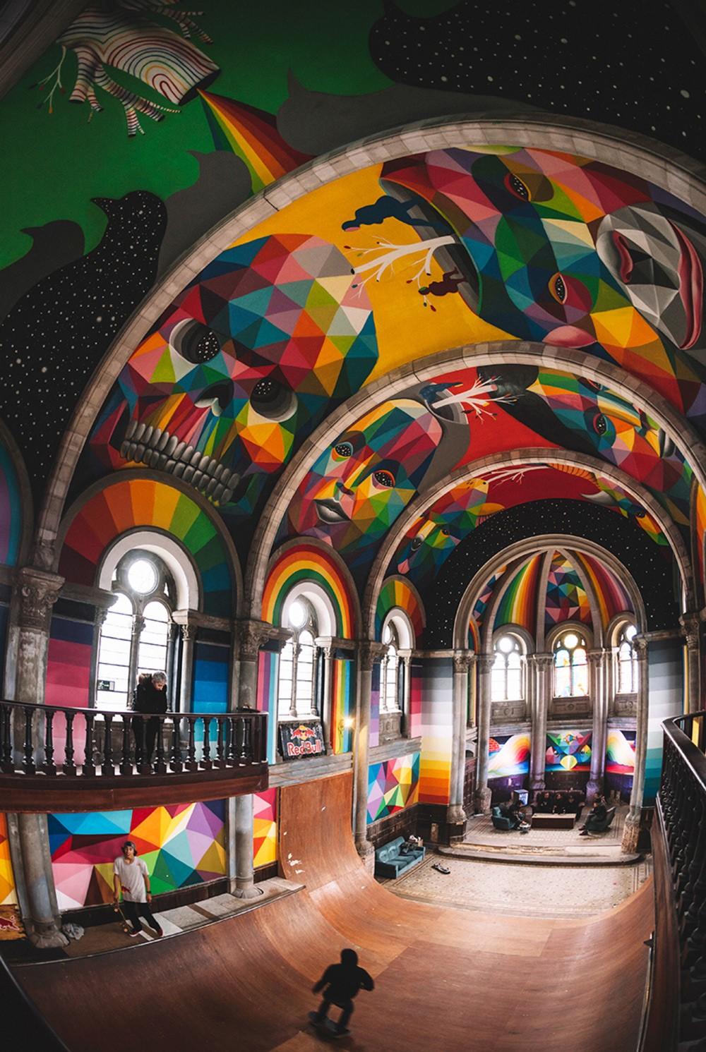 Okuda Street Art Skate Eglise Espagne