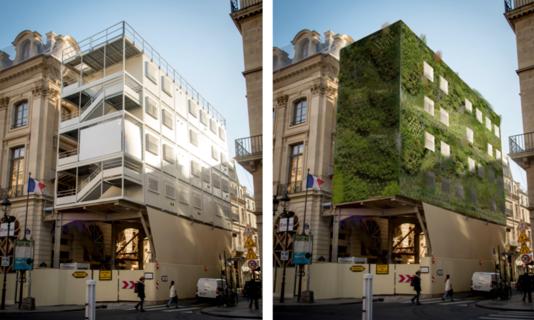 échaffaudages végétalisés Faire Paris