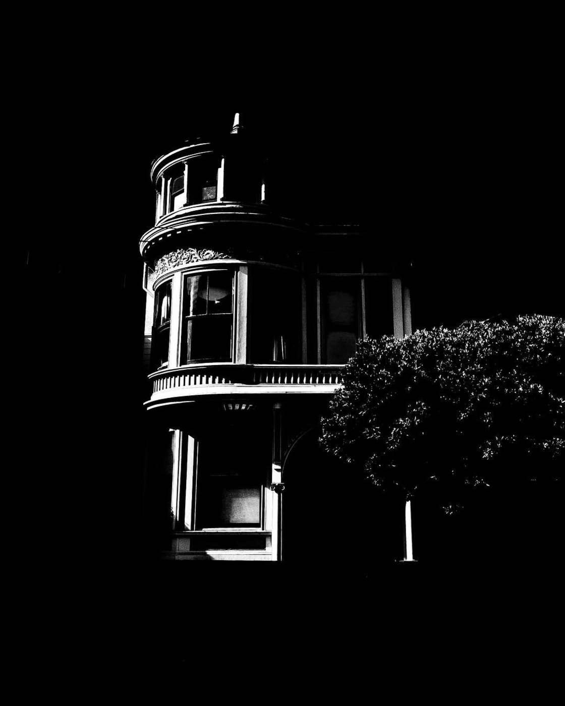 ville san fransisco noir et blanc Burton Rast