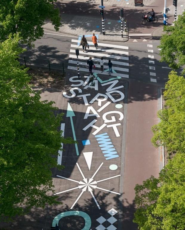 Rotterdam Passage Piétons Westblaak Street Art Espaces publics Brèves Pays-Bas Hollande