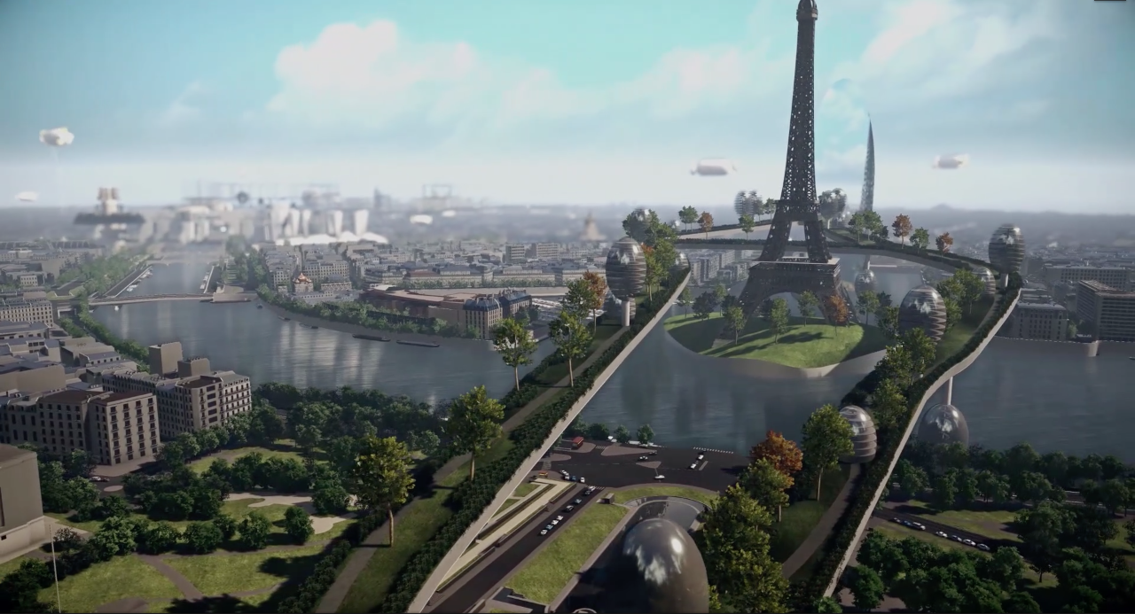 Paris Pavillon Arsenal Concours Etudiant  Paris Haussmann 2.0 Projet Brève