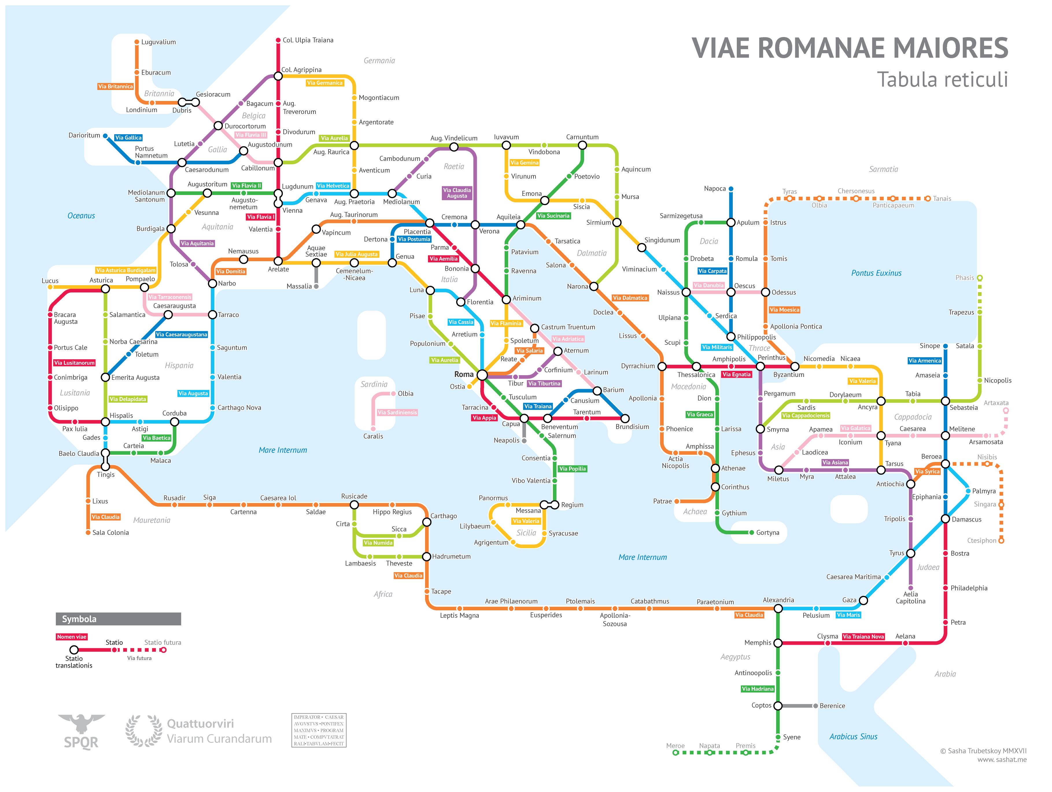 Rome Route Sasha Trubetskoy Metro Plan Carte Brève