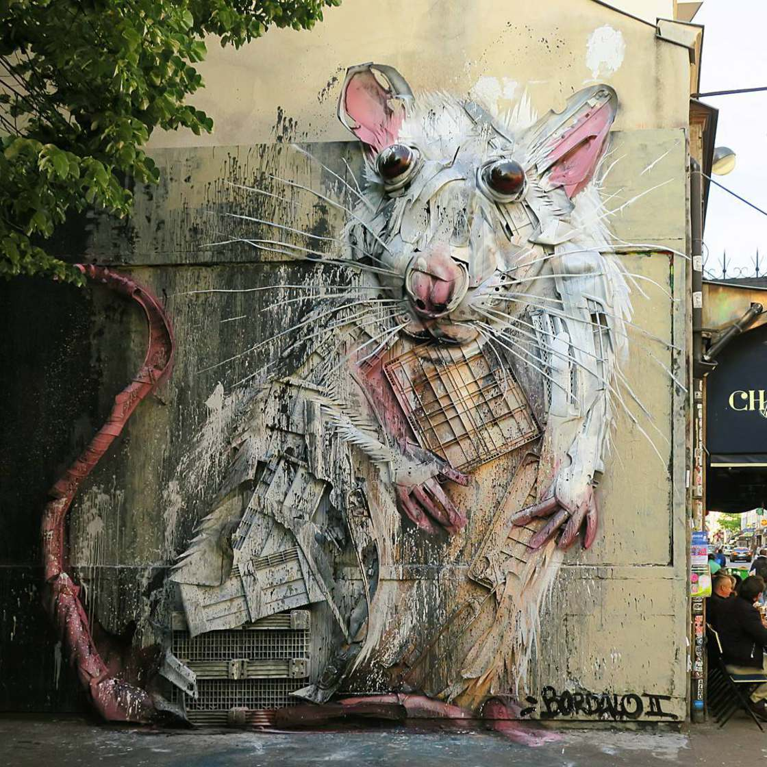 Bordalo II Street Art Ordures Art