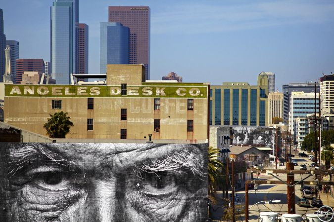 JR  The Wrinkles of the city Los Angeles Portfolio Street Art