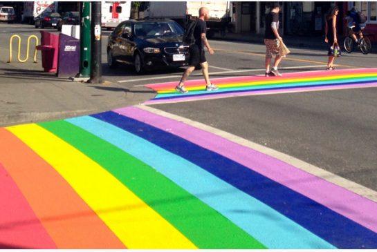 Crosswalk Passage Piéton Atlanta LGBTQ LGBT USA Arc-en-ciel