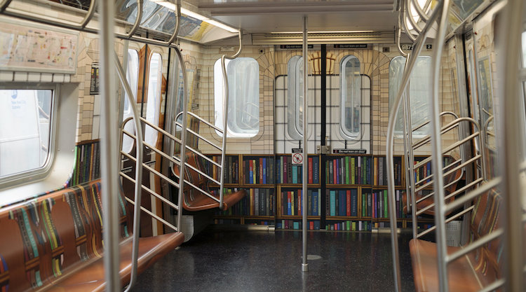 Librairie Métro New-York Brève Culture Livres Oeuvre Transports SUbway