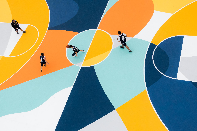 Gummy GUE Alexandrie Basketball Italie Terrain Street Art