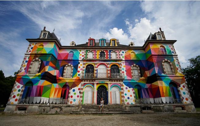 Label Valette Festival Street Art Festival Okuda Pressigny-les-pins Loire