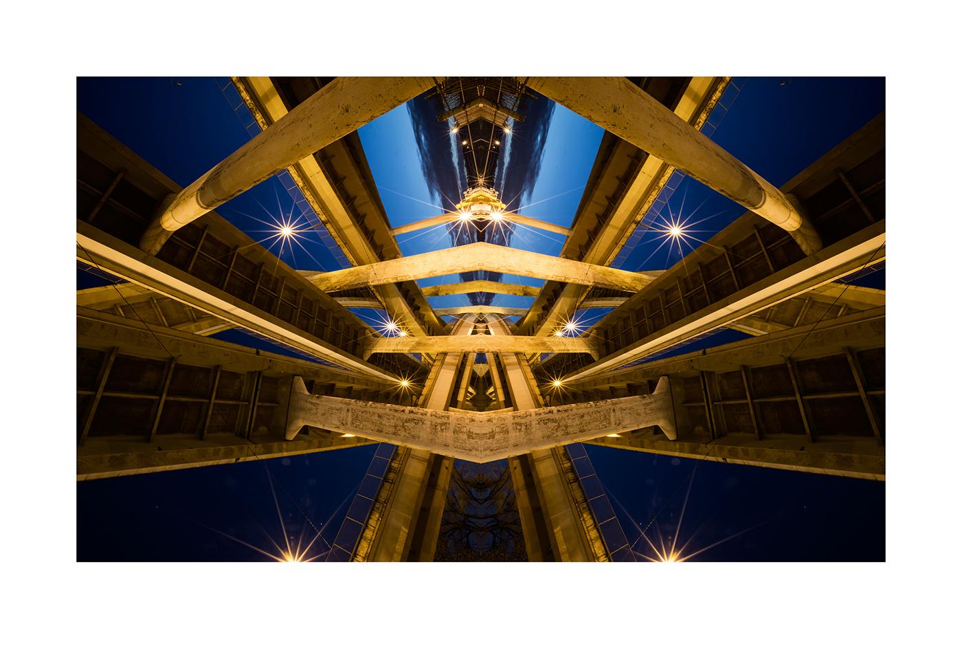 David McLaughlin Portfolio Roadschachs Portland Géométrie Symétrie Miroir Perspective