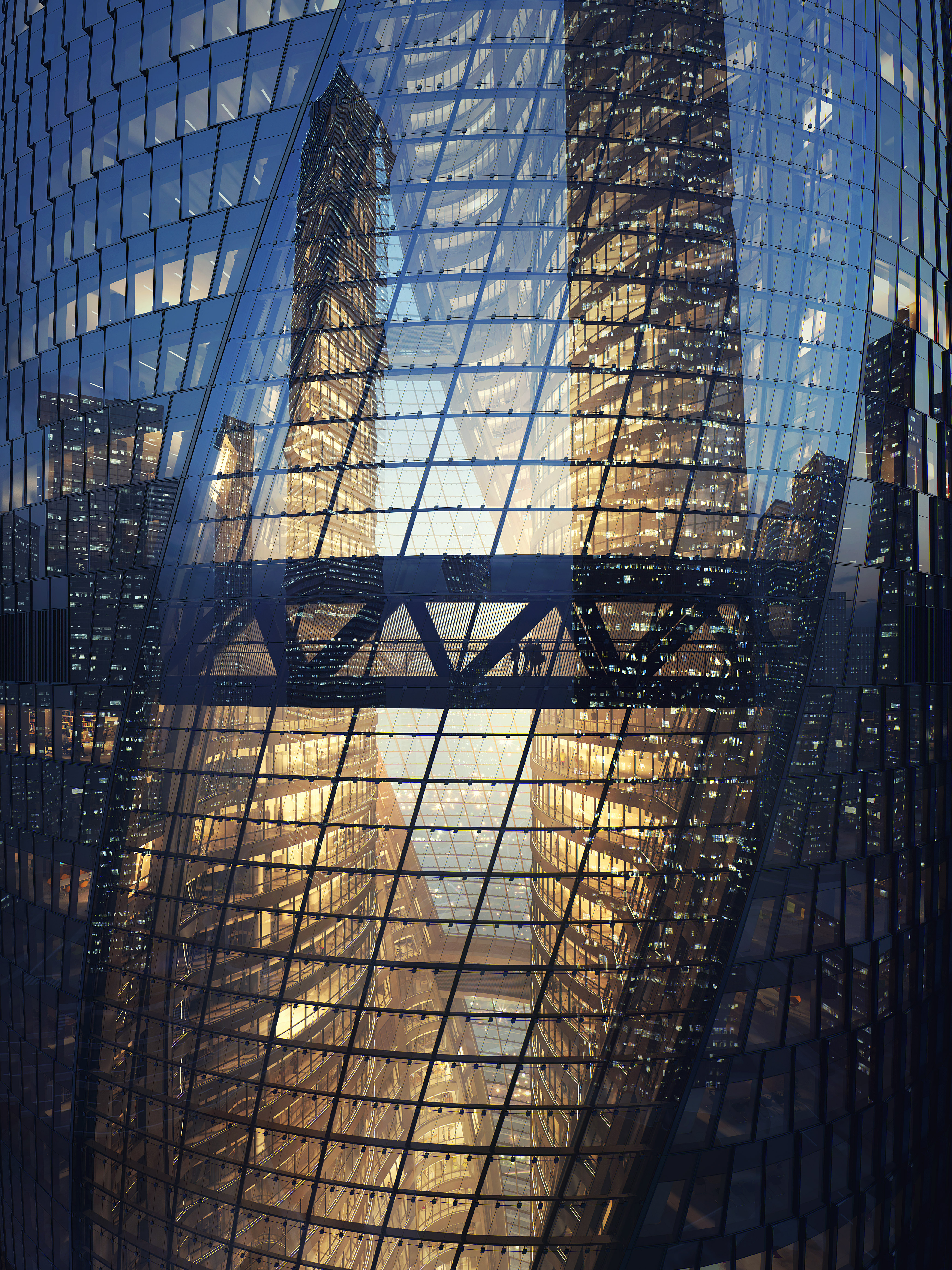 Zaha Hadid Leeza Soho Pékin Chine Architecture Construction Photographie Portfolio