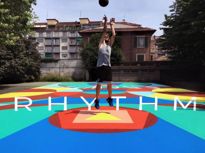 Turin Italie Basketball Terrain Art Brève Truly Playground