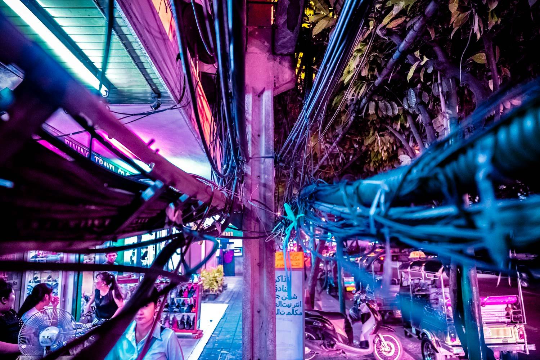 Xavier Portela Bangkok Thailande Portfolio Néon Ville Rose Bleu