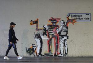 Banksy Londres Basquiat Barbican Exposition Police Street Art Brève Graffiti