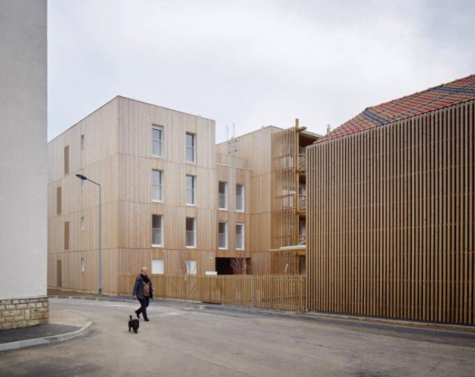 Odile Guzy Architectes France Chalon-sur-Saone Est Architecture Logements sociaux Bois