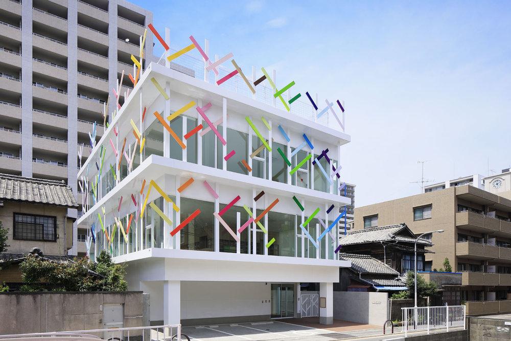 Emmanuelle Moureaux Crèche Ropponmatsu Japon Couleur Architecture Ecole maternelle