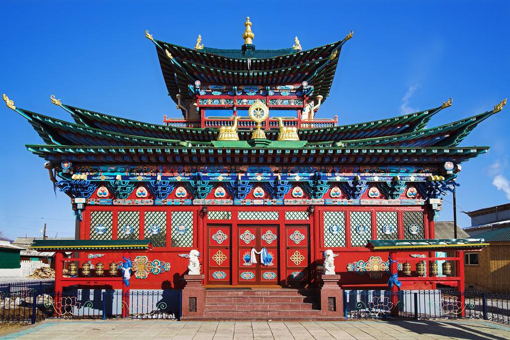 Les plus beaux lieux de culte en Russie Datsan-dIvolguinsk-Bouriatie